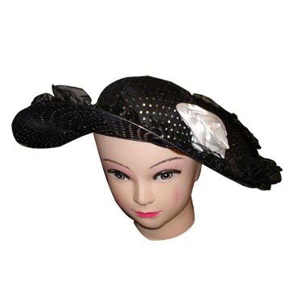 Chapéu Dama Preto com Flor
