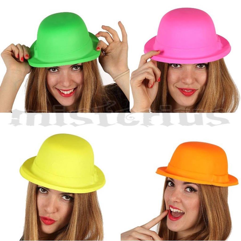 Chapéu de Coco Fluorescente