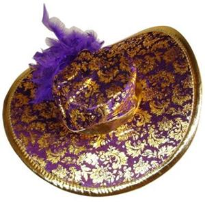 Chapéu Senhora Dourado e Roxo