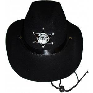 Chapéu Xerife em Feltro Preto