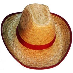 Chapéu Cowboy em Palha Clara