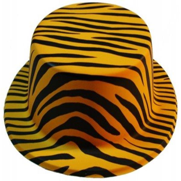 Cartola Tigre Laranja em Plástico