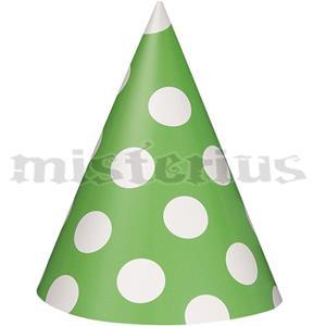 Chapéus Verdes Bolinhas, 8 unid.