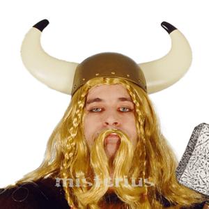 Capacete Viking em Plástico Cornos Grandes