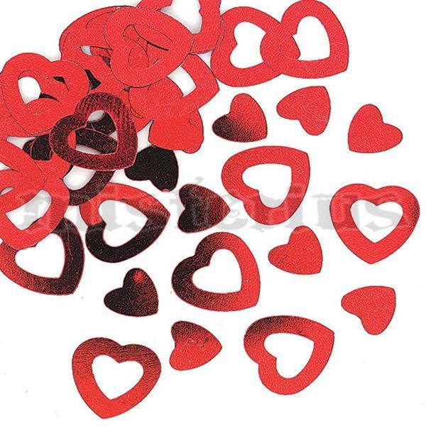 Confeti Coração Vermelho, 14gramas