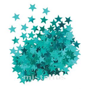 Confeti Estrela Azul Turquesa,14 gramas
