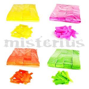 Confetis Retangulares Fluorescentes Ignifogos 1Kg