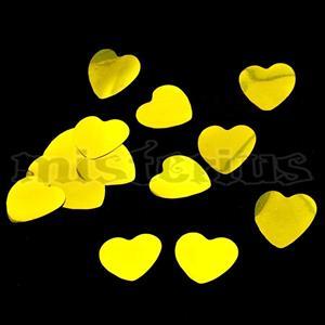 Confetis Metalizado Coração Ouro G