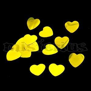 Confetis Metalizado Coração Ouro Pequeno