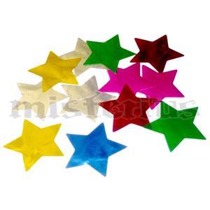 Confetis Metalizado Estrela Multicor G