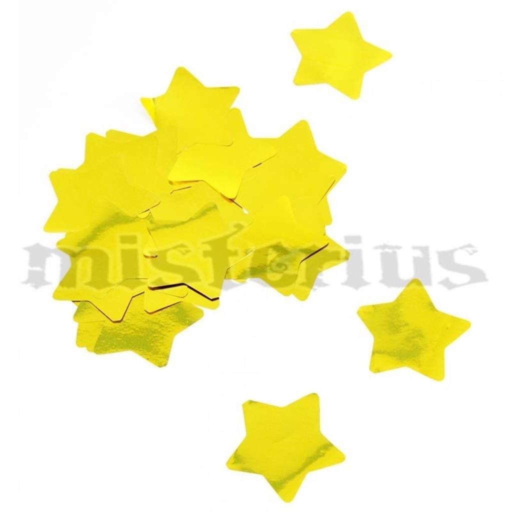 Confetis Metalizado Estrela Ouro Grande