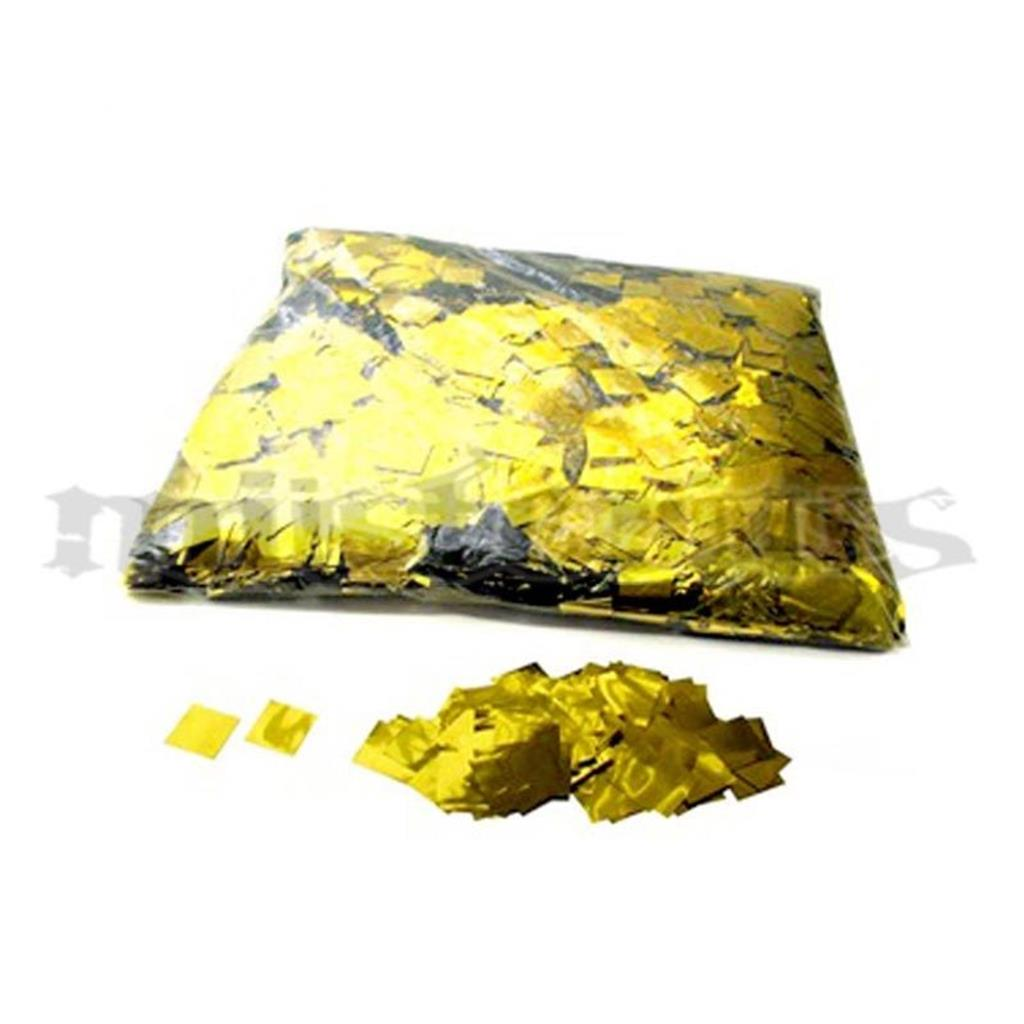 Confetis Metalizado Quadrado Ouro P