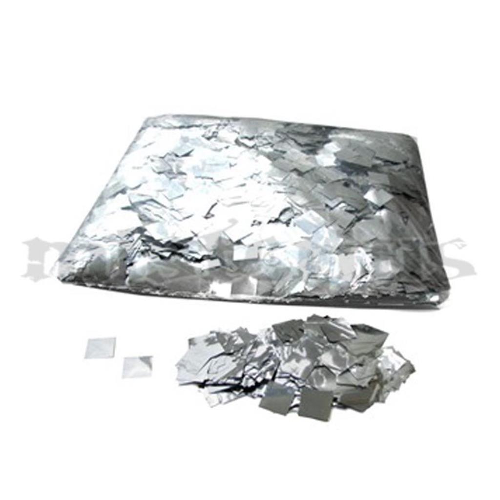Confetis Metalizado Quadrado Prata Pequeno