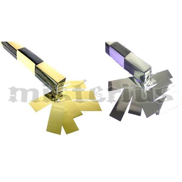 Confetis Metalizado Rectangular Cintado