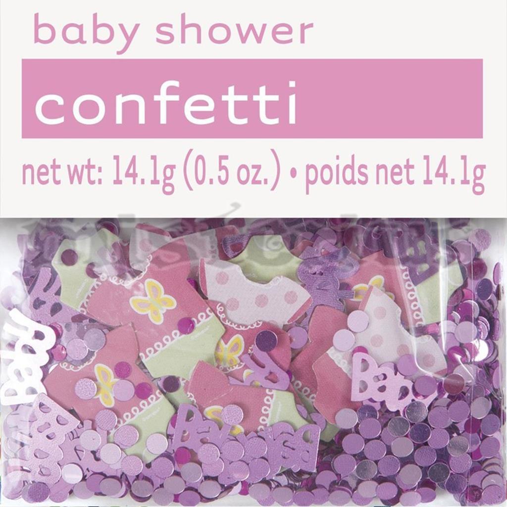 Confetis Rosa Baby Shower