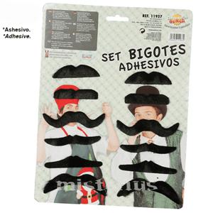 Conjunto Bigodes Adesivos, 12 Unid.