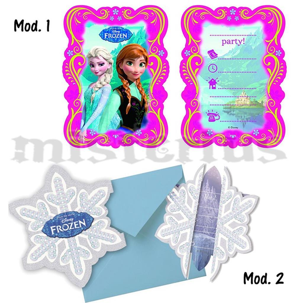 Convites Frozen, 6 Unids.