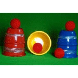 Copos e Bolas-Alumínio Cores -Cups and Balls