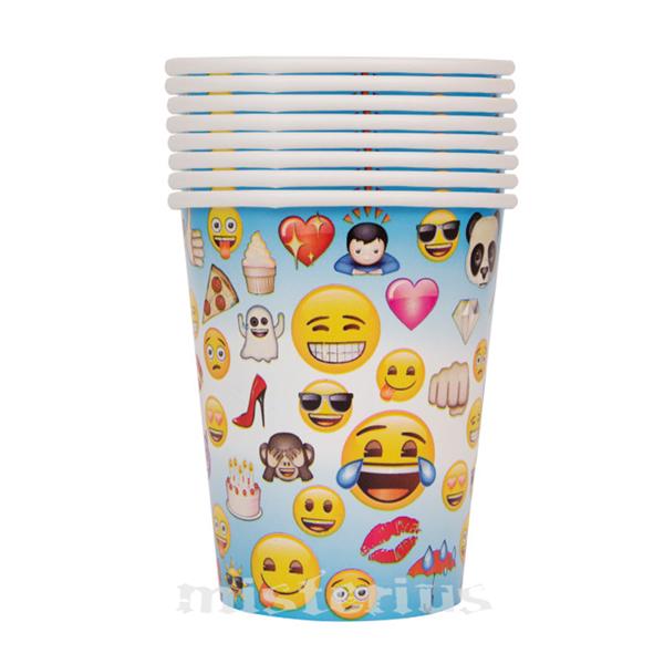 Copos Emoji, 8 un