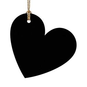 Corações Papel Preto 4.5cm