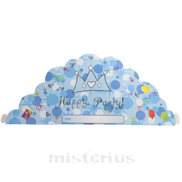 Coroa Happy Party Azul ,10 unid
