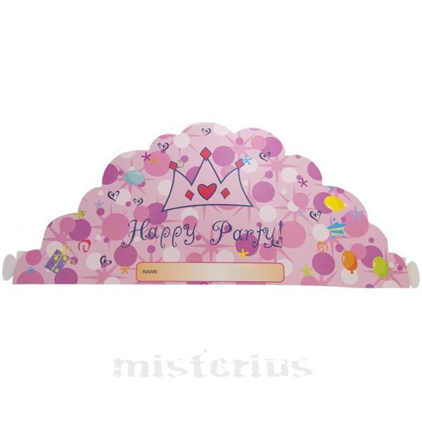 Coroa Happy Party Rosa ,10 unid
