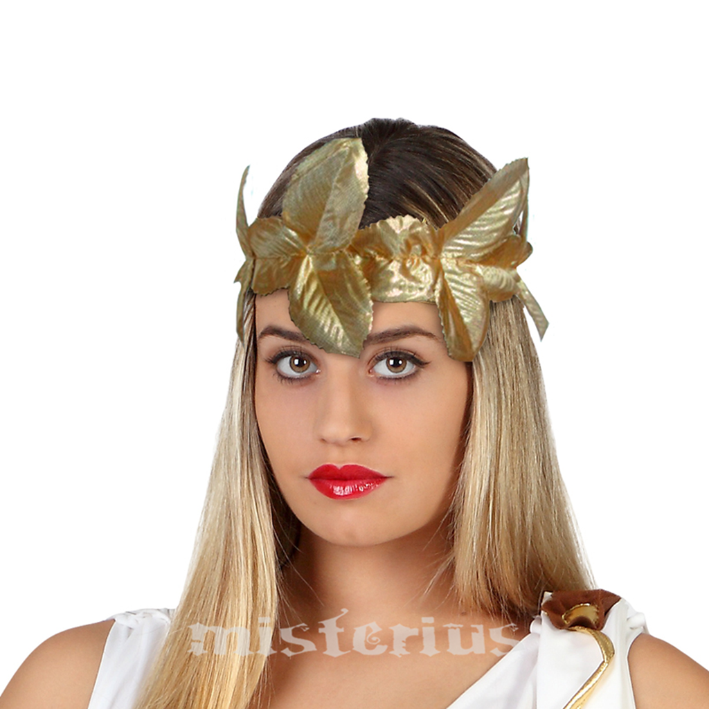Coroa Louros Dourada