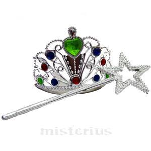 Coroa Princesa com Varinha Mágica