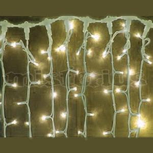 Cortina Icicle 4 x 0,8 mt 200 Leds Branco Quente