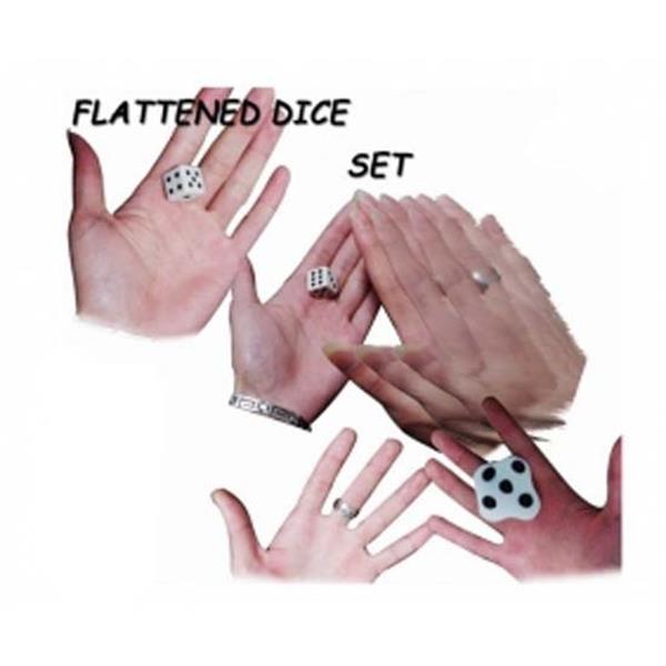 Dado espalmado - Flattened dice set