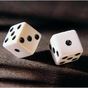 Dado de Jogo Branco 1,50 Cm2
