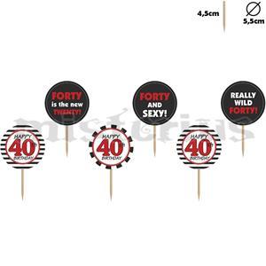 Decoração Cupcake/ Bolo 40 Anos