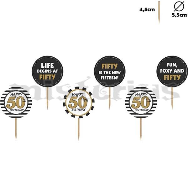 Decoração Cupcake/ Bolo 50 Anos