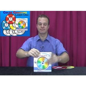 Discos Laser que mudam de cor - Colour changing Laser disc