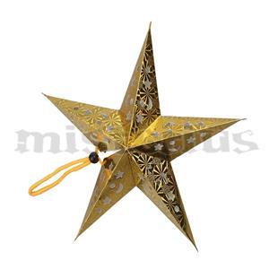 Estrela Dourada Pendurar, 55 cm