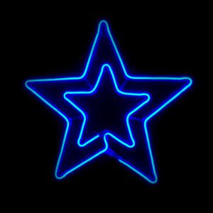 Estrela Dupla LED 54x50cm IP44, Azul
