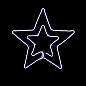 Estrela Dupla LED 54x50cm IP44, Branco Frio