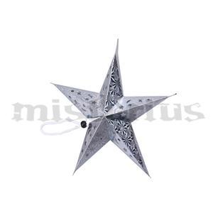 Estrela Prateada Pendurar, 30cm