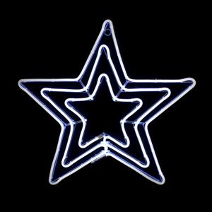 Estrela Tripla LED Branco Frio 83x81cm IP44  com Controlador