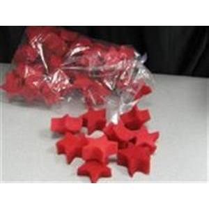 Estrelas em esponja vermelha 5.5X2.5 cm