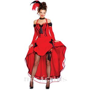 Fato Burlesco Vermelho, Mulher