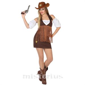 Fato Cowgirl Sherif, Adulto
