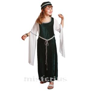 Fato Dama Medieval Verde, Criança