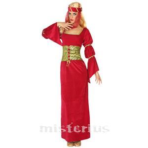 Fato Dama Medieval Vermelho