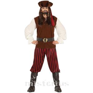 Fato de Pirata Salteador, Adulto