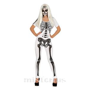 Fato Esqueleto Branco Mulher