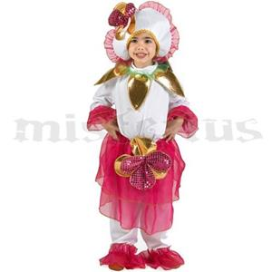 Fato Flor Rosa, criança