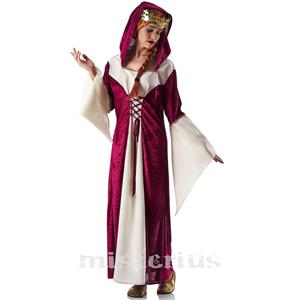 Fato Medieval Dama Delicada, Adulto