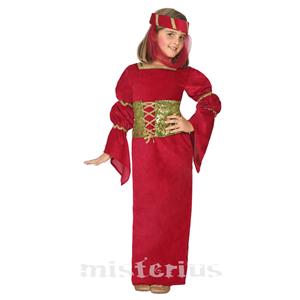 Fato Medieval Vermelho, Criança