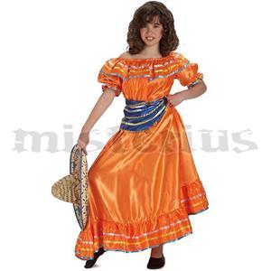 Fato Mexicana Laranja, criança